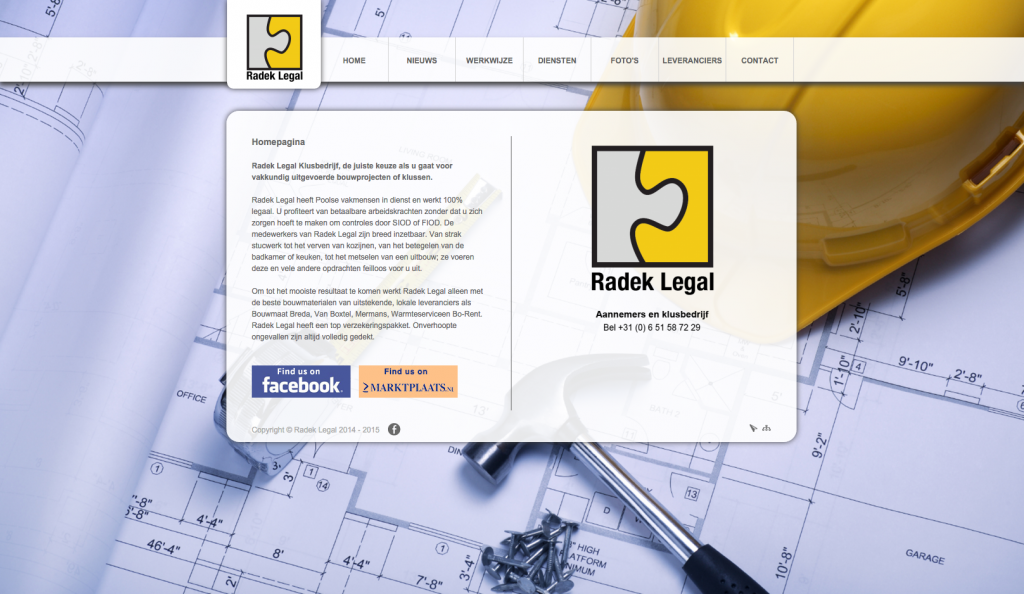 Website Design Radek Legal Breda
