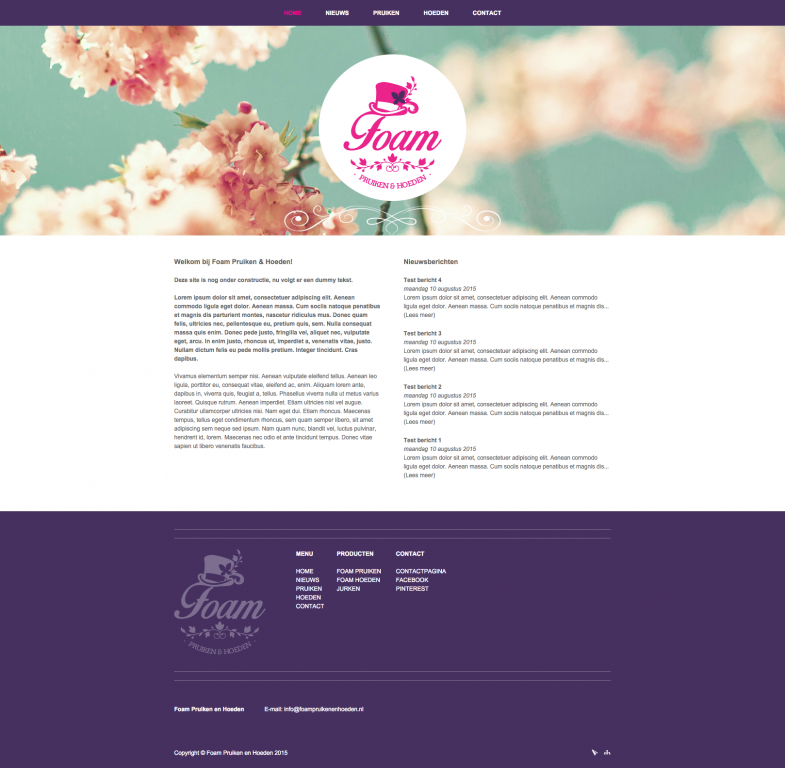 Website Foam Hoeden En Pruiken