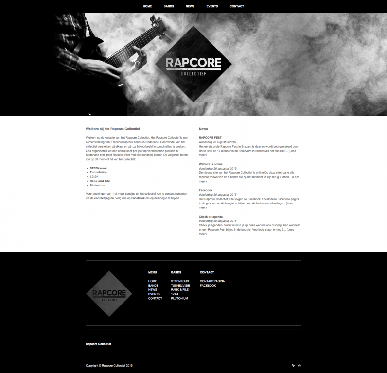 Website Rapcore Collectief