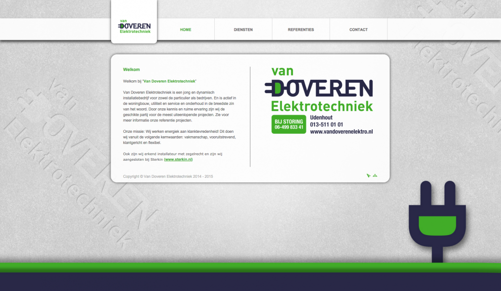 Website Van Doveren Electro